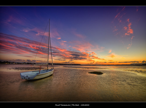 sunset england sky water colors clouds sunrise canon boat europe colours wind dorset 5d dri hdr sandbanks poole woda hdri anglia lodz kolory chmury niebo zatoka 5dmkii canon5dmarkii
