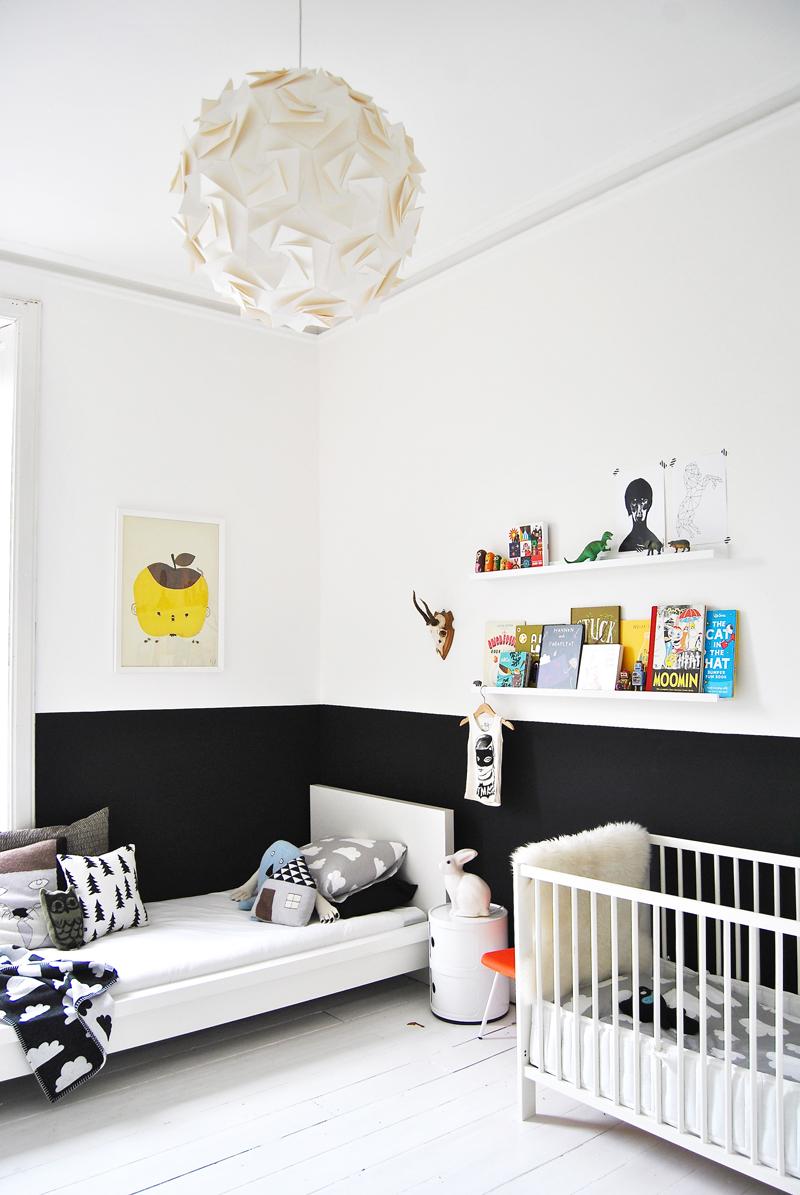 black walls kids room