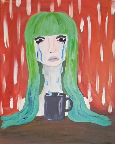 MELANIE, U'VE GOTTEN TEARS IN YR COFFEE