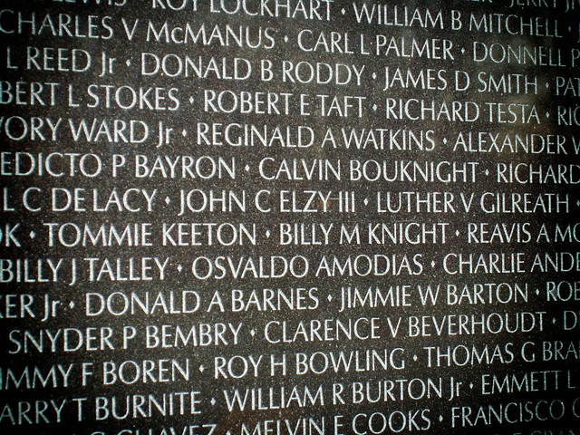 Vietnam Memorial Names on the Wall Flickr Photo Sharing