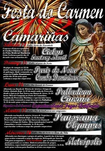 Camariñas 2012 - Festas do Carme - cartel