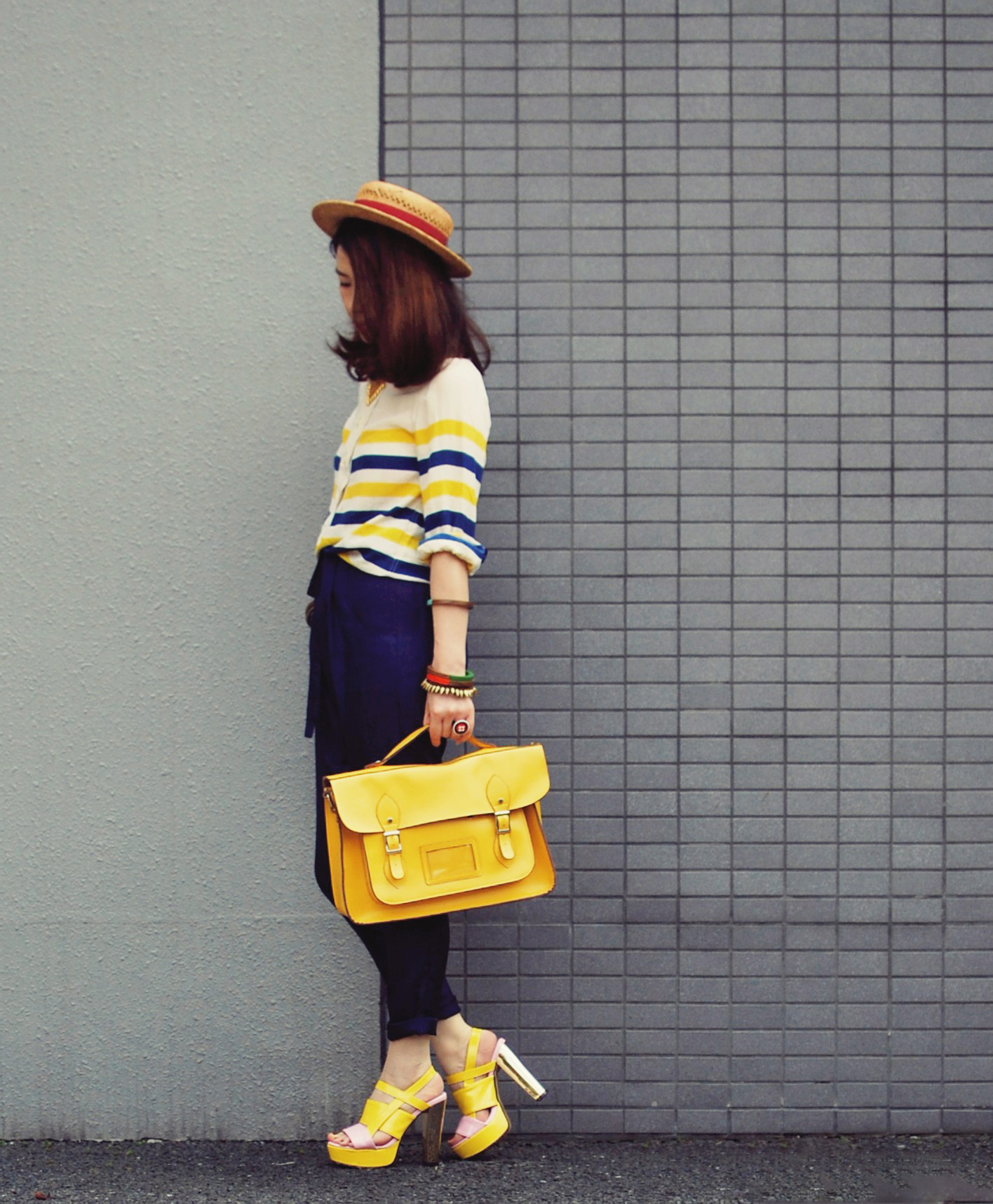 sailor in yellow