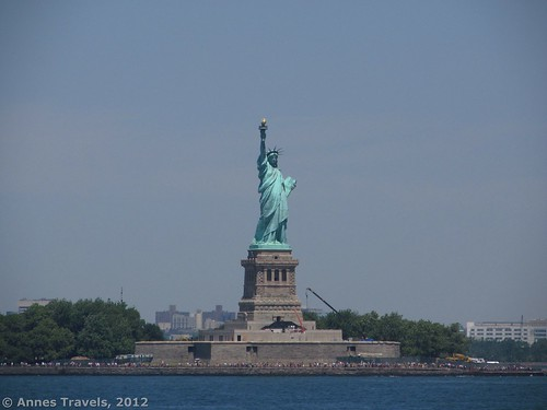The Statue of Liberty seen from the Staten Island Ferry