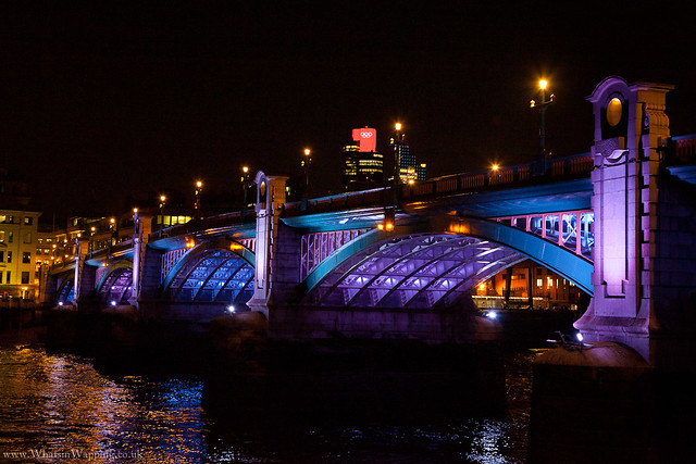 Waterloo Bridge - light display