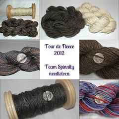 Tour de Fleece 2012 spinning