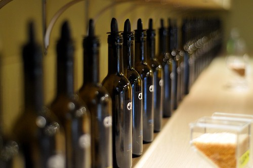 OliV Tasting Room - Row of bottles