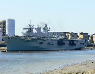 HMS Ocean (L12) @ Greenwich 23-07-12