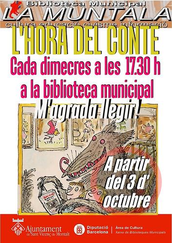 L'hora del conte @ a partir del 3 d'octubre by bibliotecalamuntala
