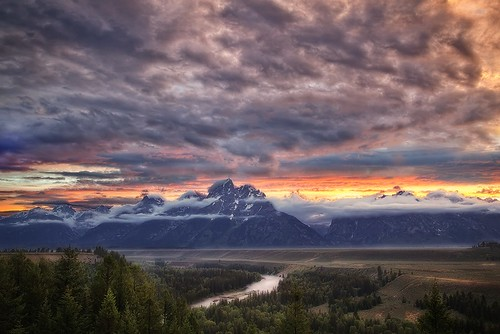July 2012 Teton Sunset