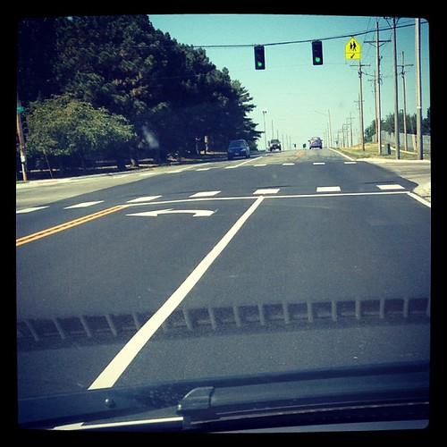 JPAD: 27: on the road. Driving on the newly paved road taking Alex to hip hop.