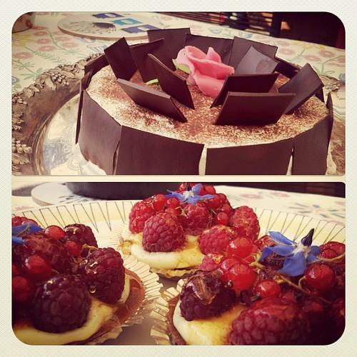 Schwartzwaldtårta och tarteletter