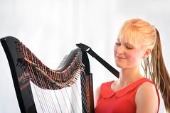 hairstyle, string instrument, clãrsach, hair, harp, string instrument,