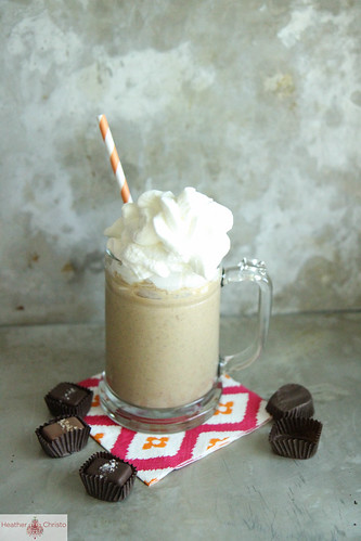 Banana Caramel and Sea Salt Milkshake