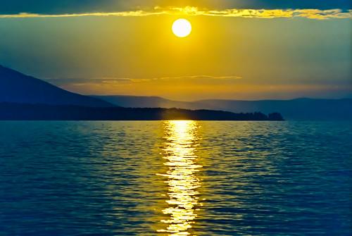 Baikal sunset on film by Valery Chernodedov