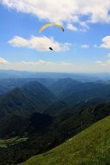 Hang glider in Triglav National Park