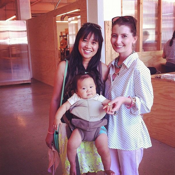 Look who's in the house! @ohjoystudio, Ruby and Kelly!