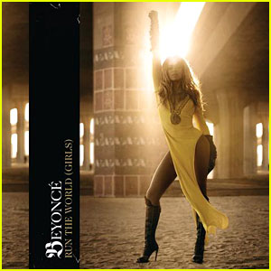 "Beyonce strutting in fabulous yellow bathing suit for the cover of her single, ""Girls"""