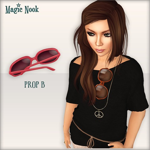 [MAGIC NOOK] Golden Life Sunglasses - Prop B