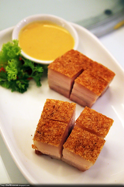 The Cathay Restaurant - Crispy Roast Pork with Mustard Dip