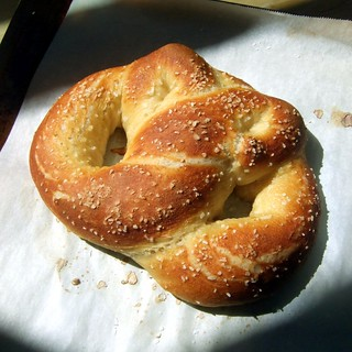 Homemade soft pretzel (plain) - Photo credit Bryan Ochalla - Used unmodified via Flickr, under CC BY-SA 2.0 license