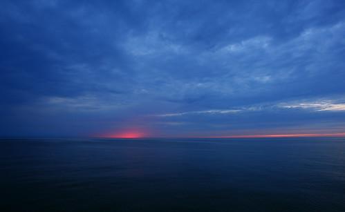 sea seascape rain night ray tranquility balticsea seashore aftersunset calmsea