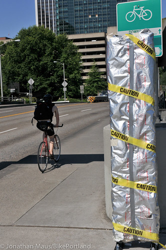 bike counter under wraps