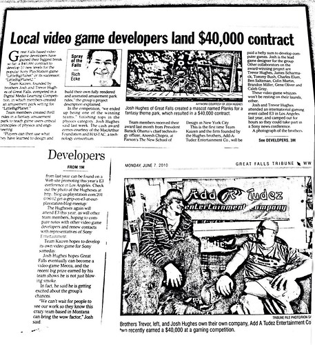 Local Video Game Developers Land $40,000 Contract