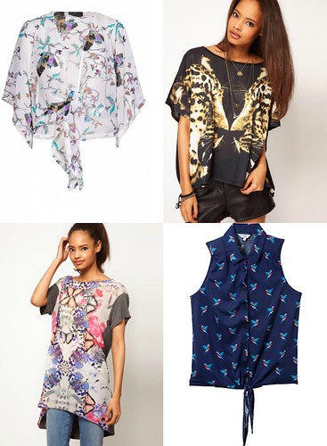 bestival fancy dress, bird print, butterfly print top