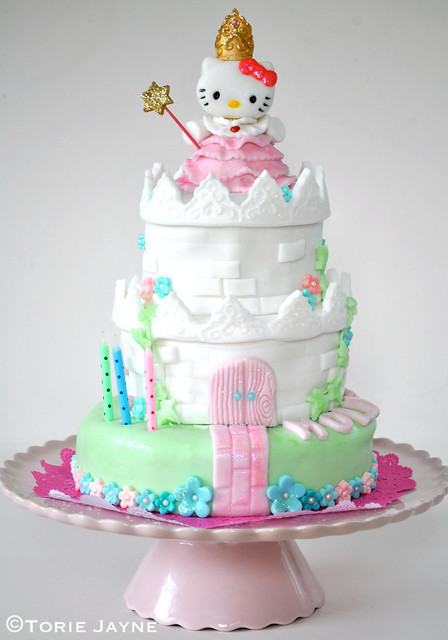 Princess Hello Kitty castle cake