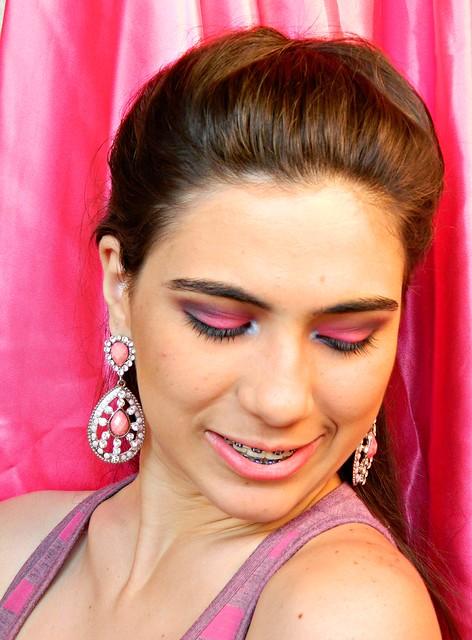 juliana leite penteado de princesa pink trança embutida espinha de peixe9
