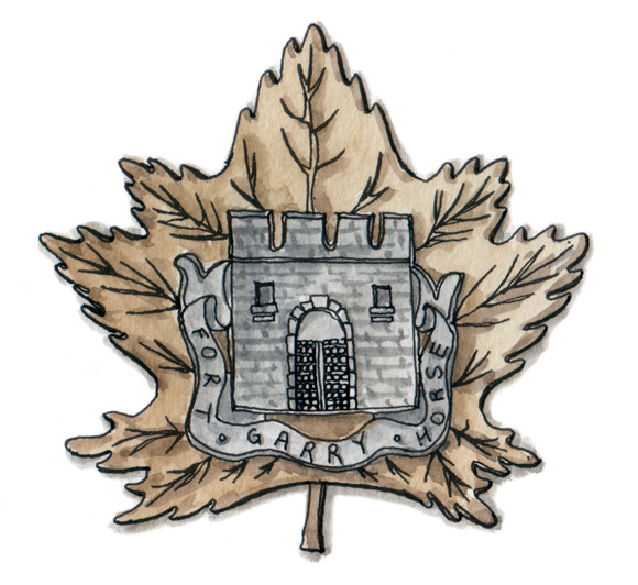 Fort Garry Horse pin