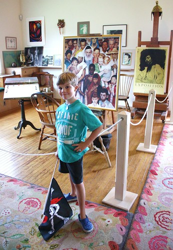 Hank in Norman Rockwell's Studio