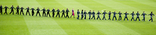 London 2012 - The women football medallists