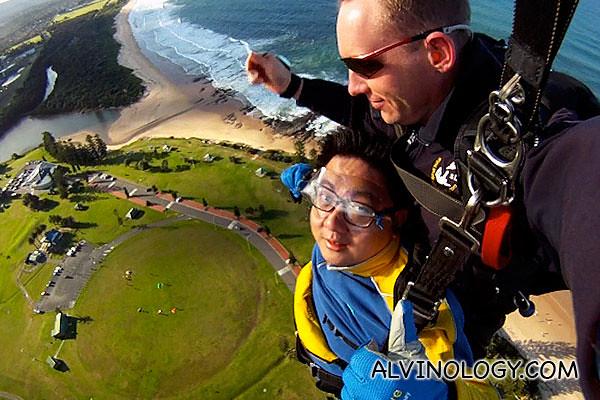 Maneuvering the parachute for landing