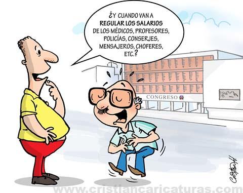 Caricatura regulación salarios