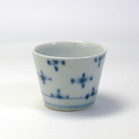 砥部焼 中田窯「蕎麦猪口/菱文(小)」
