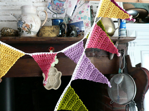 Beaded bunting in kitchen