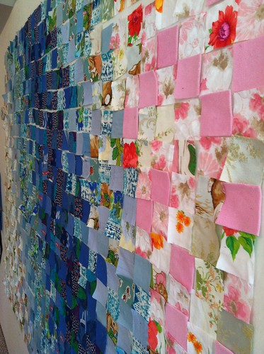 Custom Memory Quilt made from recycled clothing and textiles