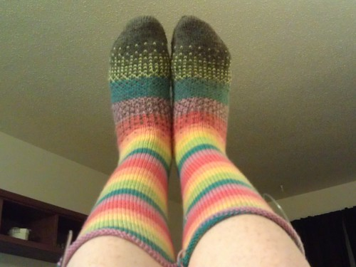 Rainbow Knee Socks