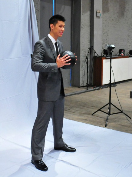 August 14th, 2012 - Jeremy Lin in a photo shoot for Volvo
