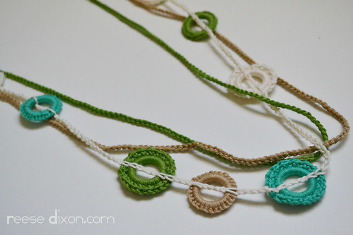 Crocheted Circle Necklace