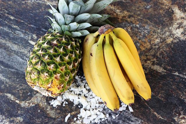 Banana Piña Colada  - Gluten-free, Vegan + Refined Sugar-free