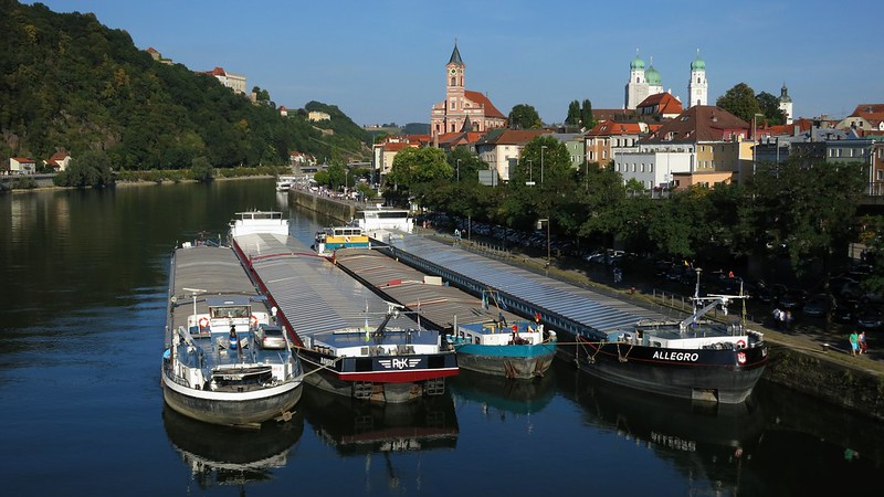 The Danube at Passau from the Schanzlbrücke