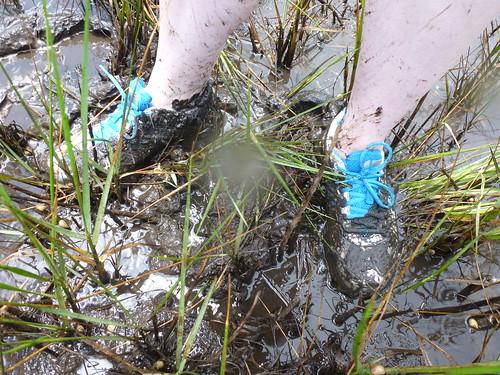 SciGirls' mudy feet