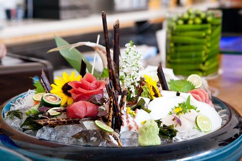 Morimoto's beautiful sashimi platter