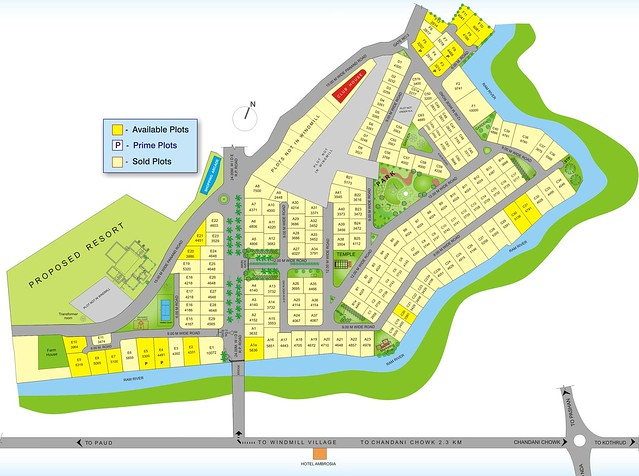 Windmill Village Bungalow Plots, Bavdhan Budruk, Pune 411 021, Layout Plan