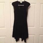 Helmut Lang sheer chevron shoulder dress from tag sale in Woodbury