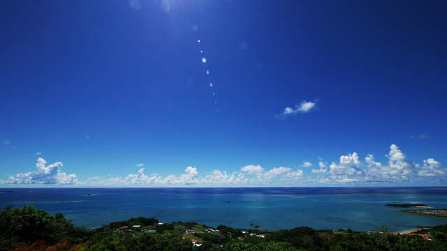Okinawa, Blue Sea and Sky