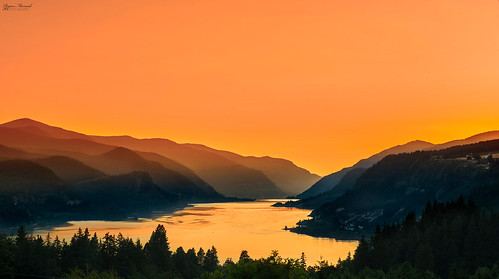 sunset water oregon washington nikon or wa columbiagorge whitesalmon leefilters d800e