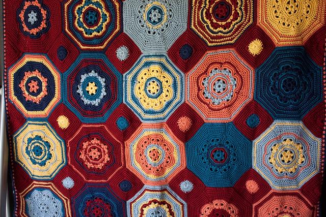 Sunny Seaside Mosaic Afghan